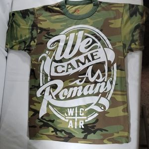 We came as Romans camouflage logo shirt